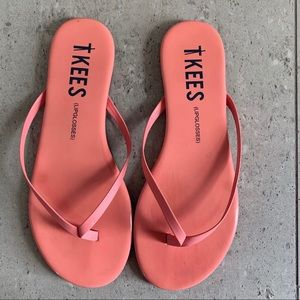TKEES Pink Gloss Flipflops